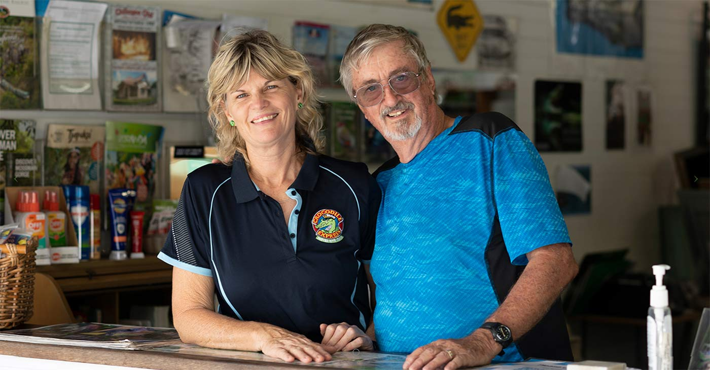Dean and Anja - Owners of Crocodile Express Daintree River Cruises