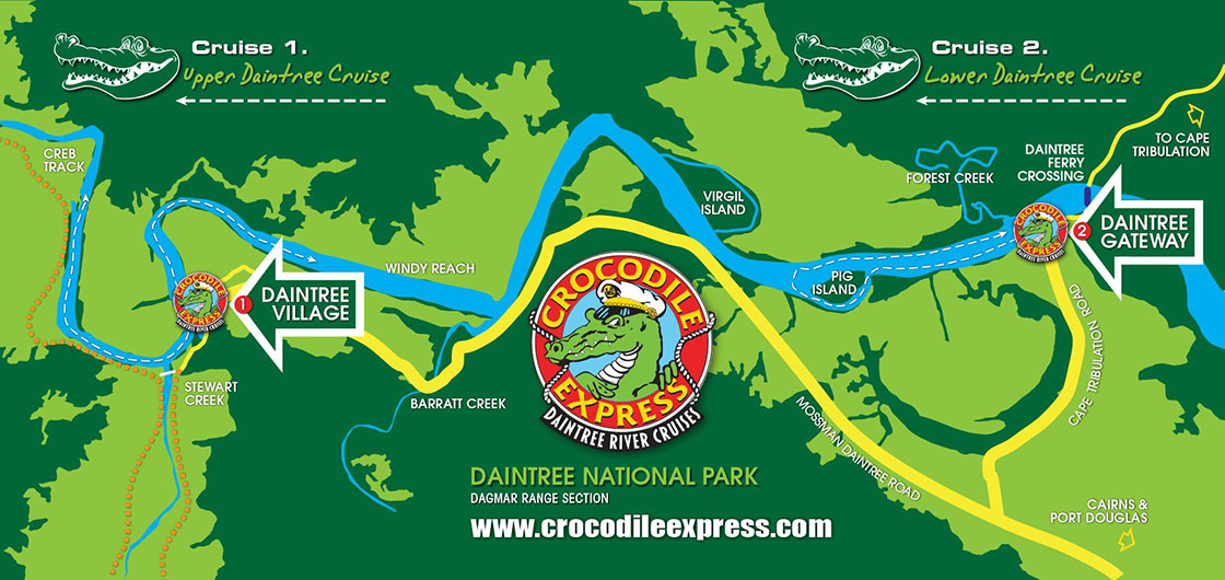 Daintree River Cruise Map